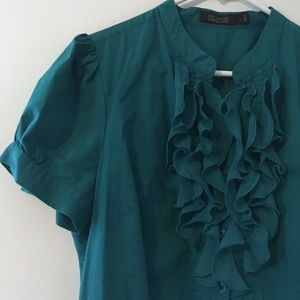 The Limited Essentials Ruffle Shirt